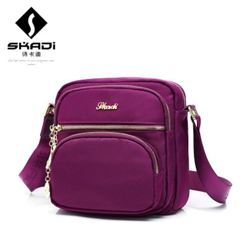 SKADI Famous Brand Waterproof Nylon Women Shoulder Messenger Bags Bolsas Femininas Small Men Travel Clutches Bags skadi s 152