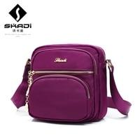 Skadi известный бренд Водонепроницаемый нейлон Для женщин плеча Курьерские сумки Bolsas femininas маленькие Для мужчин Путешествия Клатчи Сумки