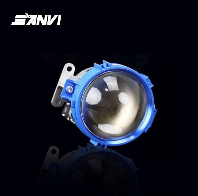 Wholesale free shipping sanvi blue color bi led lens projector lens headlight 35w 5500k super bright auto light accessories
