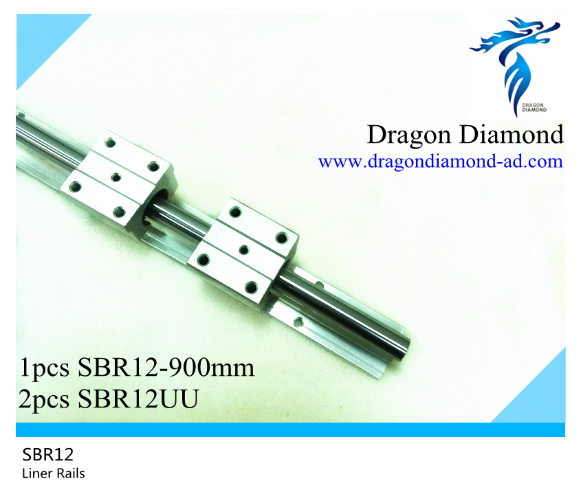 ФОТО High quality 1pcs linear rails shaft support SBR12 -900mm rails+2pcs SBR12UU