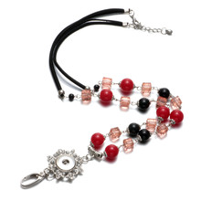 New Arrivals Employee Teacher Working ID Card Lanyard Hanger Pendant Necklace 18mm Snap Button Jewelry For Snap Jewelry XL0077(China)