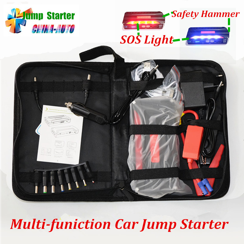 2017 Super Capacity Car Jump Starter Mini Portable 4USB Power Bank Car Battery Charger SOS Lights for A 12V Petrol & Diesel Car 2016 high capacity gasoline diesel car jump starte 12v emergency battery charger 4usb portable power bank sos lights free ship
