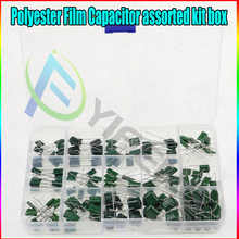 100V 15 value 150pcs Polyester Film Capacitor assorted kit box assorstment Durable and easy to install