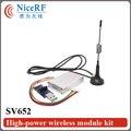 De alta Potencia 500 mW WirelessTransmitter Y Receptor SV652 En 915 MHz Con Interfaz RS485 Módulo de RF de Control Remoto Envío Gratis
