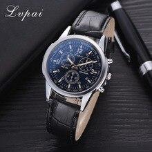 Lvpai Brand Men's Wristwatch Fashion Simple Black Leather Strap Quartz Watch Man Sports Clock Montre Homme Drop Ship
