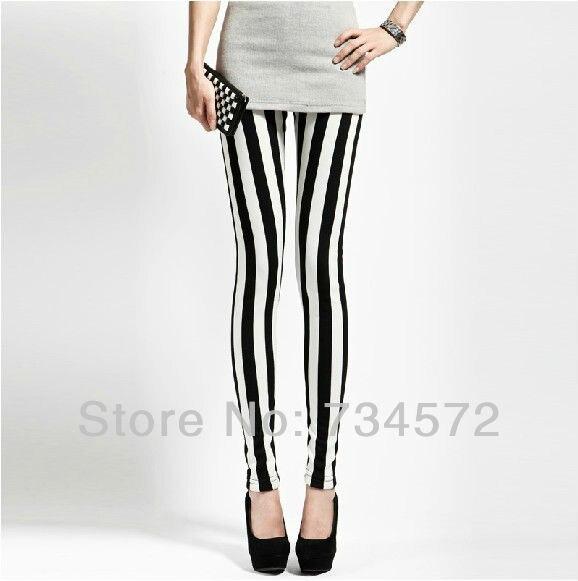 Free Shipping Fashion 2013 Women Black And White Spandex -7045