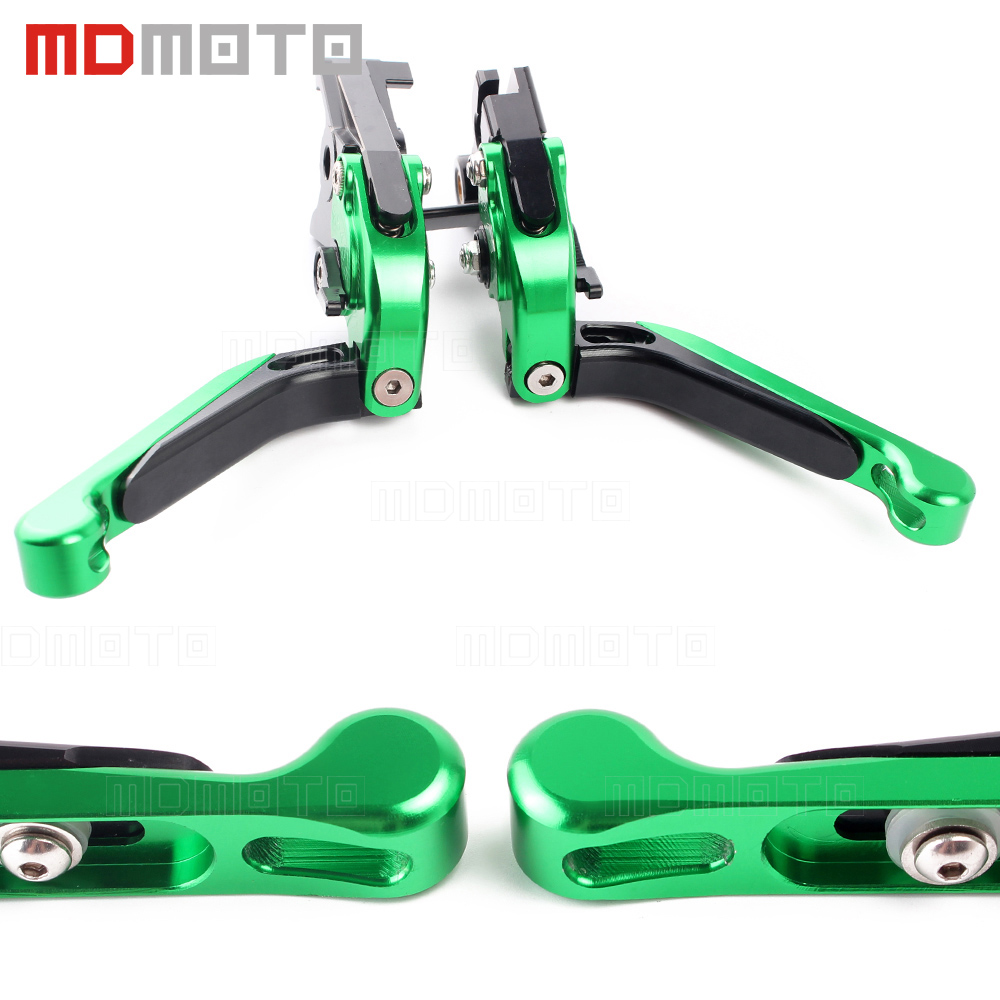 CNC motorcycle brake&clutch levers for Kawasaki zx6r zx636r zx6rr zx12r zx 6r 636r 6rr zx9r zx 9r motorbike brake levers clutch  цена и фото