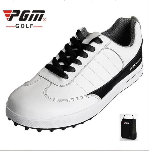 Men Genuine Leather Golf Shoes Breathable Ultra Light Waterproof Sneakers fixed shoes nail anti-skid Golf Shoes With shoes bags