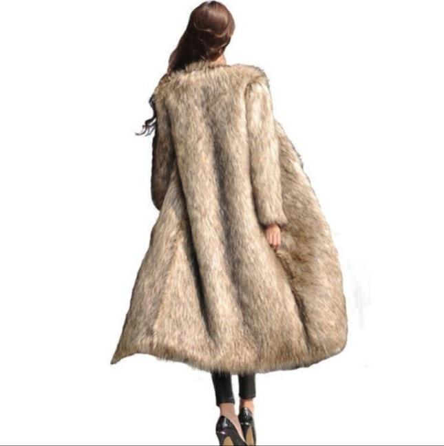 Pardessus Hiver Fox Faux Renard Furry Taille Femmes Aw300 2018 Plus Argent Vetement La De Longue Fourrure Manteau Outwear Moelleux Sq05xpz