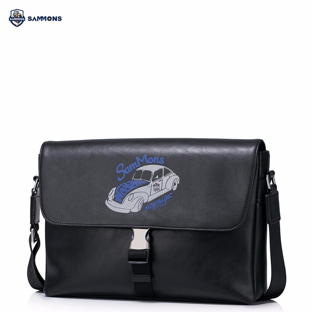 купить SAMMONS Brand New Design Vintage Embossed PU Leather Men Shoulder Bag Crossbody Messenger Casual Bags недорого