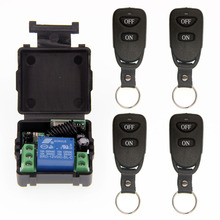 Mini Wireless RF Remote Control Light Switch 10A Relay Output Radio DC 12V 1 CH Channel 1CH Receiver Module +Transmitter long range remote control switch dc 12v 1ch 10a relay receiver transmitter learning code light lamp wireless switch 315 433 4065