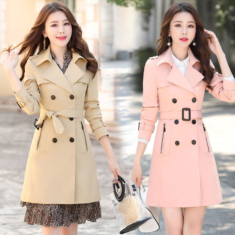 Jacket Windbreaker Spring Slim British Autumn Long New-Style Women's High-Quality And
