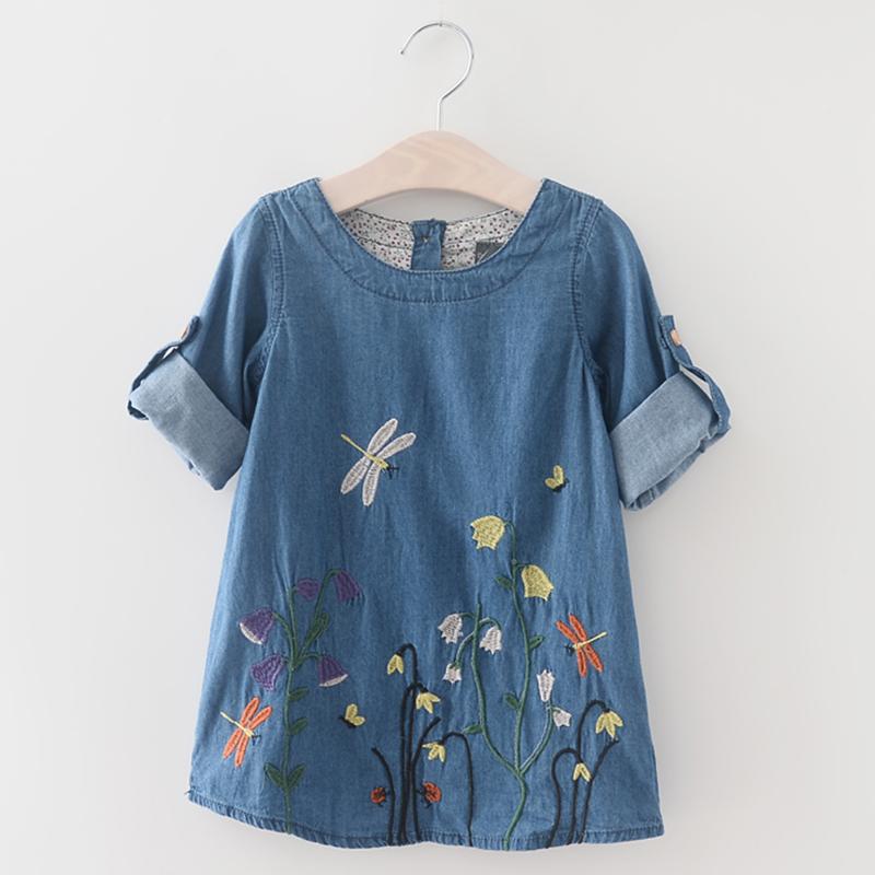 Menoea Children Clothing Suits 19 Autumn Fashion Style Girl Cowboy Long-Sleeve Mesh Dress Design For 3-8Y Kids Girls Sets 44
