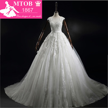 MTOB1867 Lace A-Line Wedding Dress Bride Dresses
