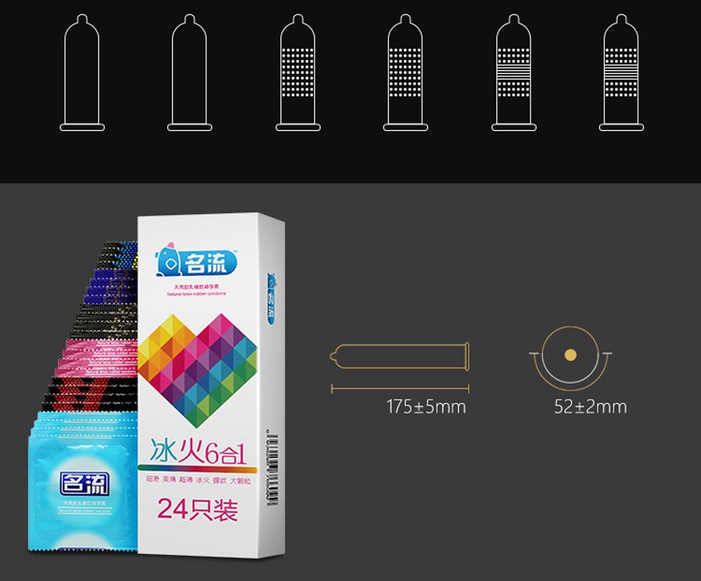 mingliu 24 шт./кор. 6 типа натурального каучука презерватив для человека, супер тонкий смазкой с резьбой г точечные точки мужской презерватив, взрослый продукт секс