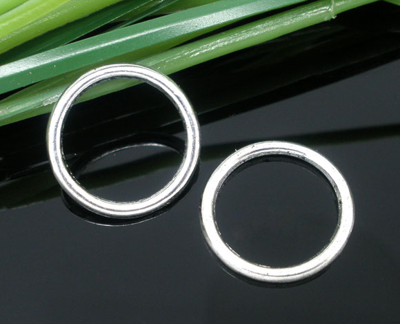 Zinc Metal Alloy Closed Soldered Jump Rings Round Antique Silver 16mm( 5/8