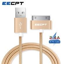 Eecpt cabo usb carregador rápido, para iphone 4S 4 3gs 3g ipad 1 2 3 adaptador de dados de 30 pinos para ipod nano itouch
