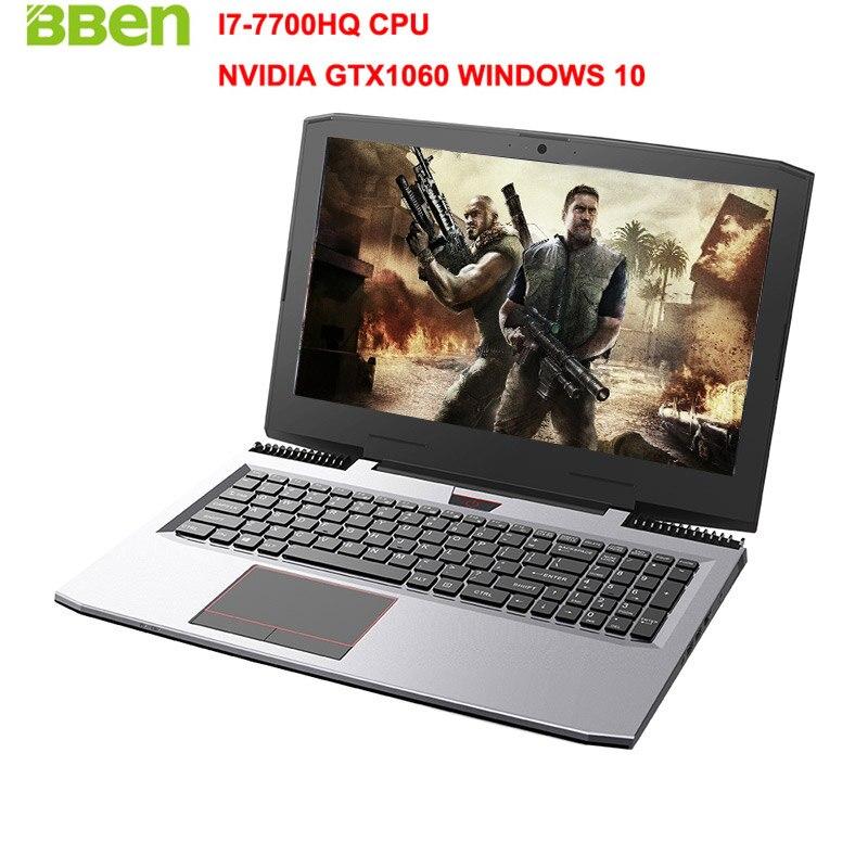 "BBEN G16 15.6"" Gaming Laptop Win10 FHD1920*1080 Intel I7-7700HQ Kabylake NVIDIA GTX1060 DDR5 6G Memory 8G Ram 128G SSD Computer"