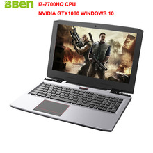 "Bben G16 15.6 ""игровой ноутбук Win10 FHD1920 * 1080 Intel I7-7700HQ kabylake NVIDIA GTX1060 DDR5 6 г памяти 8 г ОЗУ 128 г SSD компьютер"