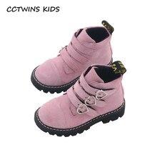 81df2973e808a CCTWINS ENFANTS 2018 Automne Fille De Mode Cheville Boot Enfants Noir  Véritable Chaussures En Cuir Bébé Garçon Marque Martin .