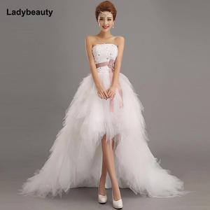 5d2d97279aa Ladybeauty 2018 bride princess wedding dress short wedding