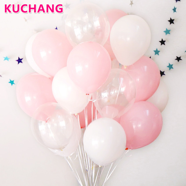 30Pcs Lot 23g Pink Clear White 28g Transparent Balloons Latex Helium Float Birthday