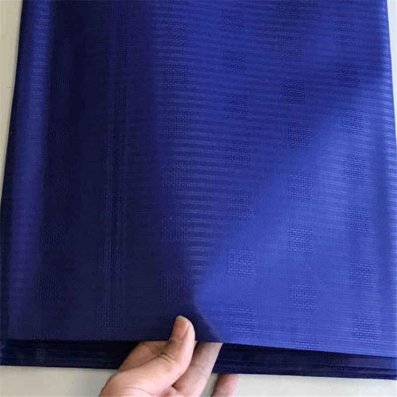 Beads africani nigeriano monili di stile Atiku Tessuto di alta qualità di Colore Blu In Cotone atiku fabic per Gli Uomini di Stoffa dell'indumento in 5 metri