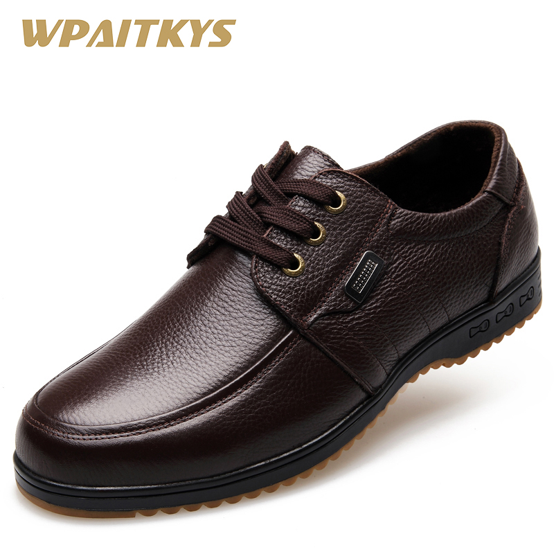 Black Brown Men's Leather Shoes 2018 New England Leather Shoes - Men's Shoes