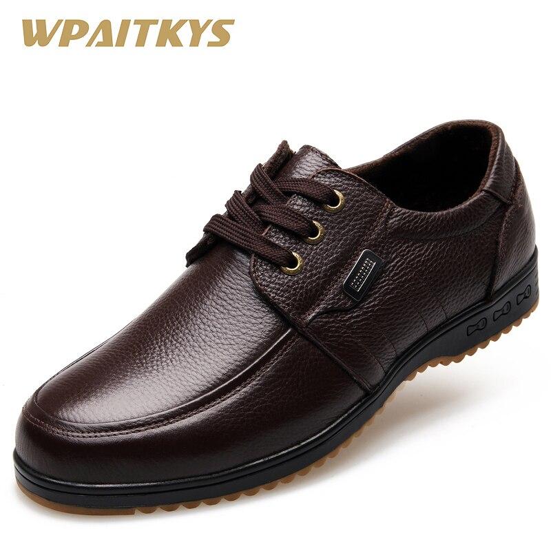 Черная Коричневая Мужская Кожаная - Мужская обувь