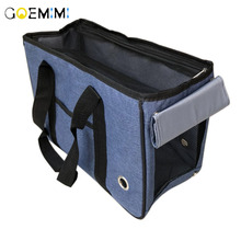Foldable Dog Carrier Hand Bag Solid Color Breathable Pet travel bag backpack For Small dog Outgoing Pet Carrier For Cat lucky lola one hand closure folding 3 wheel dog cat pet jogging stroller carrier
