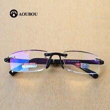 Top Brad High-End Alloy Memory Rack Bezrámové Anti-Fatigue HD čtecí brýle Plastové povlakové čočky Příznivý komentář AB872