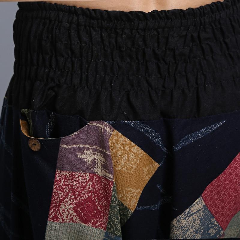 US $40.01 13% OFF|Männer Vintage Baumwolle Leinen Hippy Boho Aladdin Harem Wide bein Ninja Hosen Hosen Casual Nepal Herren Indische Aladdin Hosen