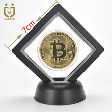 Gold Plated BitCoin Bit Coin With Plastic Case Ripple Litecoin Ethereum Metal Physical Cryptocurrency Coin For Collection analiz ceny na bitcoin ethereum vialyi rost
