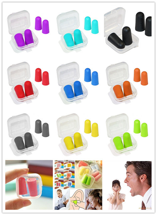 [ Fly Eagle ] 10000pcs Boxes Soft Foam Ear Plugs Tapered Travel Sleep Noise Prevention Earplugs Reduction For Travel Sleeping