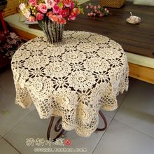 Fashion design Handmade 3D crochet dining table cloth american 100% cotton knitted table cover decoration towel fore wedding de
