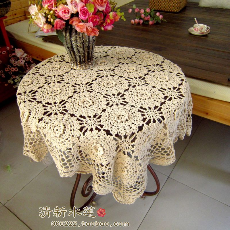 Fashion Design Handmade 3d Crochet Dining Table Cloth