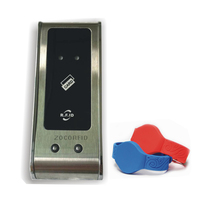Free Shipping 662 125KHZ RFID Card Key Metal Shell Electronic Cabinet Locker Lock With Dry Battery