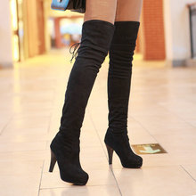 Ladies Sexy Thin Heel Over The Knee Boots Spring Autumn Hot Sale Woman Fashion High Quality High Heel Shoes W1-MQ-5919