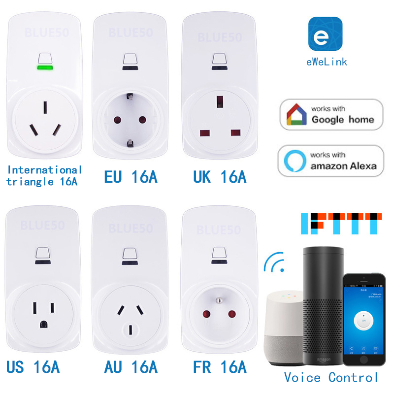 Smart Socket Plug WiFi Wireless Remote automation module Adaptor with Timer switch Compatible with Alexa Google Home Voice(China)