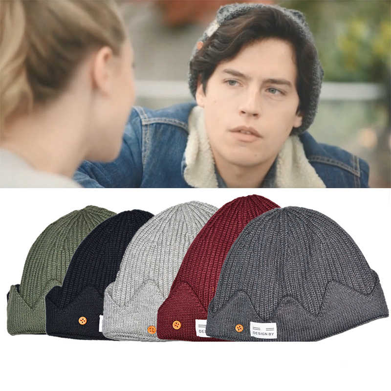 Riverdale Knitted Cap Cosplay Skullcap Jughead Jones Hat Winter Warm Beanie Caps Women Men Christmas Gifts