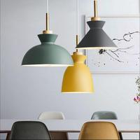 Fashion Indoor Lighting Pendant Lights Wood And Aluminum Lamp Restaurant Bar Coffee Dining Room LED Hanging