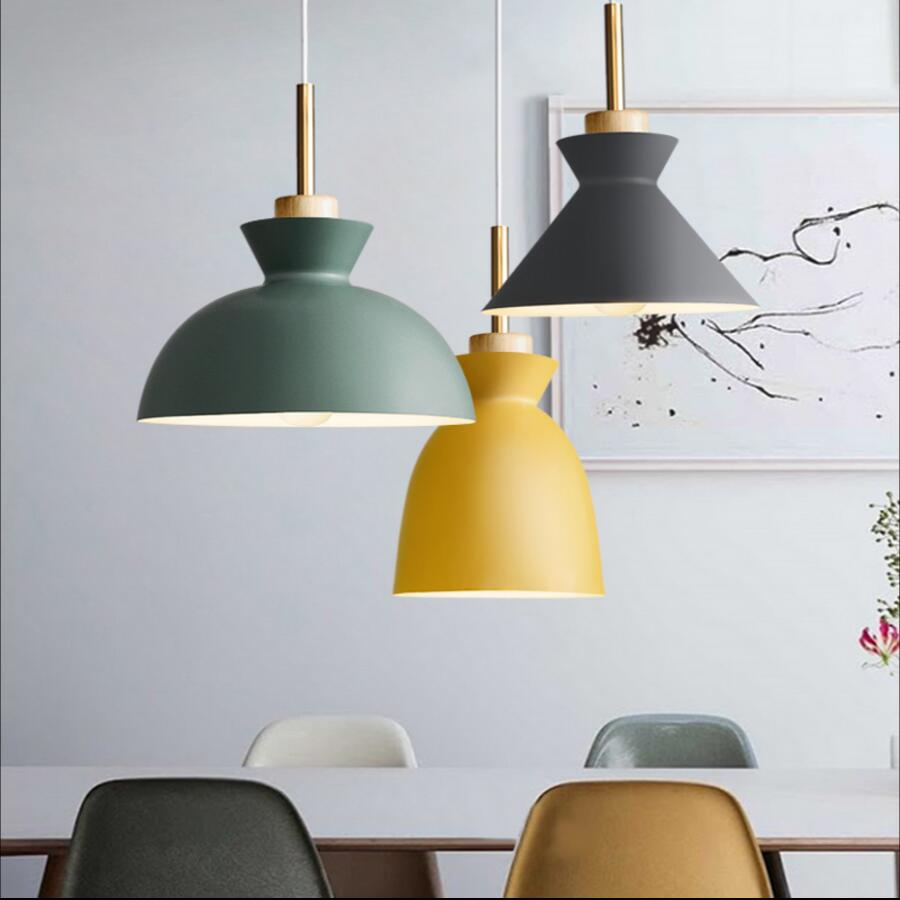 Fashion Indoor lighting pendant lights Wood and aluminum lamp restaurant bar coffee dining room LED hanging light fixture modern indoor lighting 60cm pendant lamp aluminum led chandeliers restaurant sitting room bar stores light fixture