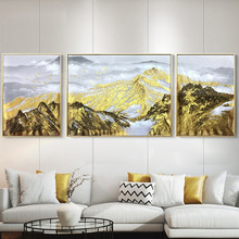 3 pieces Gold art canvas paintings  living room painting home decoration abstract wall pictures acrylic texture