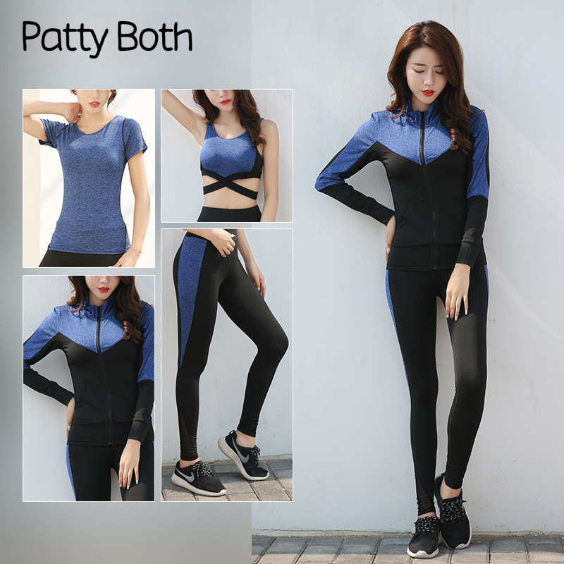 613d81ae49a Patty Both 4PCS Women Yoga Set Gym Fitness Clothes Tennis Shirt+Pants  Running Tights Jogging Workout Yoga Leggings Sport Suit - aliexpress.com -  imall.com