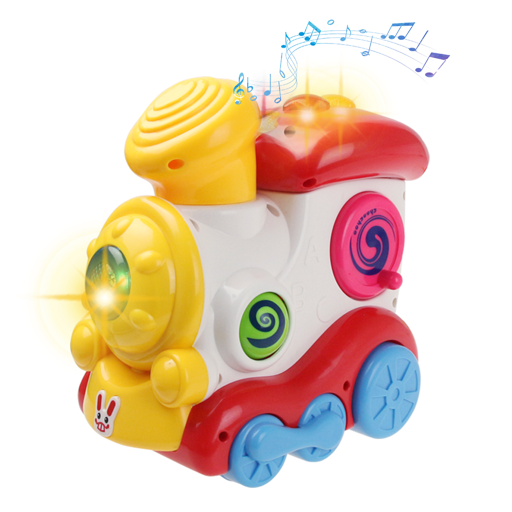 Mini Locomotive With Lights & Music Simulate Train Multi-function Electronic Vocal Toys Educational Toys For Kids Birthday Gifts