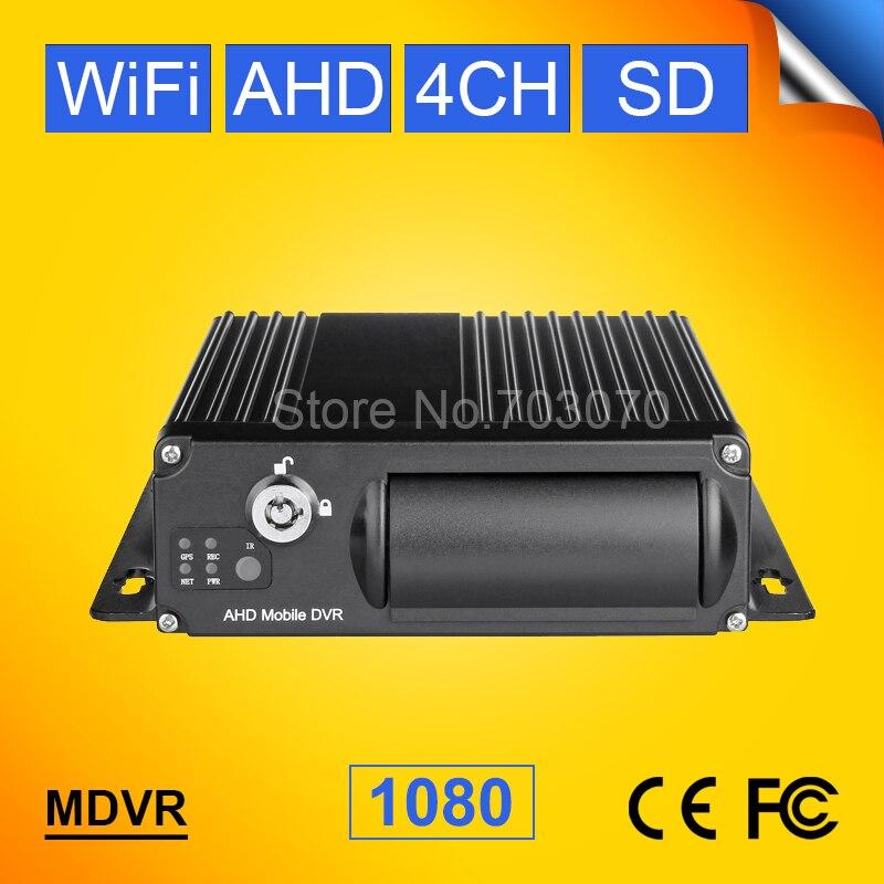 256G Wifi véhicule AHD Mobile Dvr, 4CH Wifi Mdvr, logiciel gratuit, moniteur à distance, moniteur PC/téléphone système de sécurité 1080 voiture Dvr