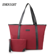 ENKNIGHT Women Nylon Waterproof Tote Shoulder Bag Larger Handle Bags