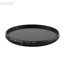 49 52 55 58 62 67 72 77 82mm Slim Adjustable Neutral Density ND2-400 Filter for Canon Nikon Sony All Camera Lens недорого