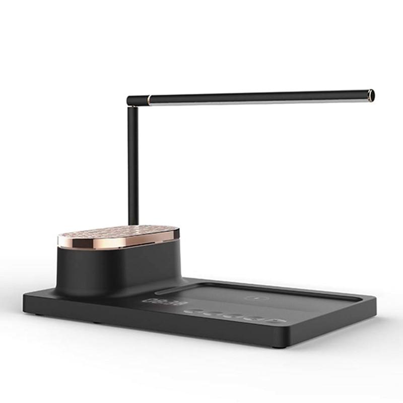Led オーディオテーブルランプスマートホームワイヤレス充電デスクランプ目ブック英国プラグ -