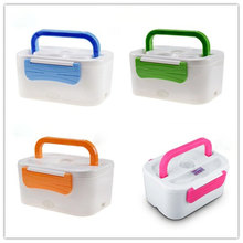 Фотография Car/US/EU 12V/110V/220V Electric Heating Lunch Boxes Bento Box Meal Heater Lunchbox Rice Dinner Food Container